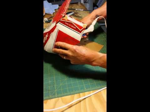 How to make a beer box cowboy hat - YouTube with top dent