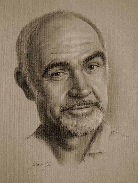 Sean Connery by Polish Pencil Artist krzysztof20d (krzysztof łukasiewicz)