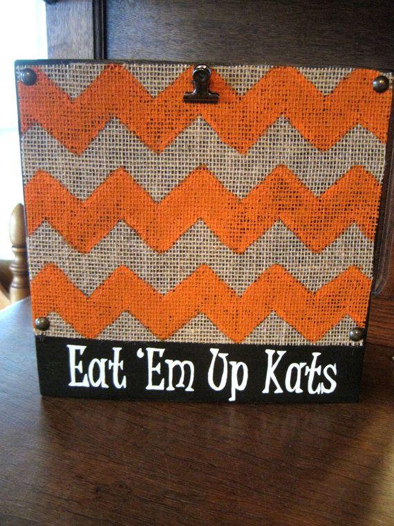Eat 'Em Up Kats Orange Distressed Sam Houston by iGottaHaveItAll, $18.00