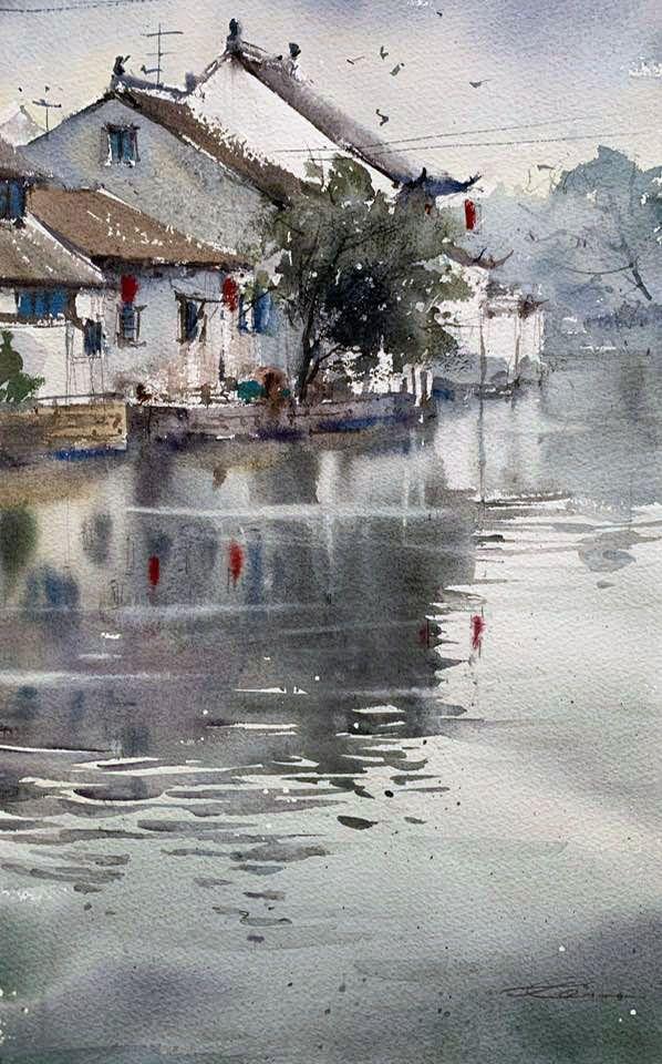 Epingle Par Francois Floc H Sur Aquarelles Et En 2020 Avec Images