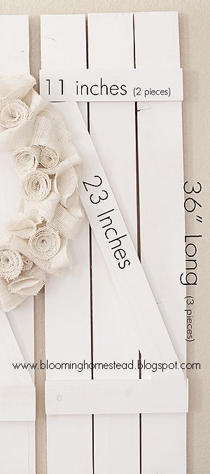 Blooming Homestead: Tutorial on making shutters
