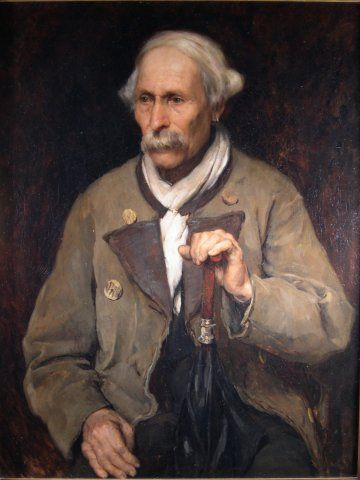 Old Man with an Umbrella, c. 1878, Carl von Marr, Museum of Wisconsin Art, 0033.