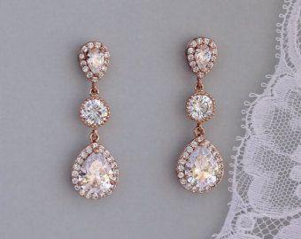 Braut Ohrringe Kristall und Perle baumeln Ohrringe Ohrringe