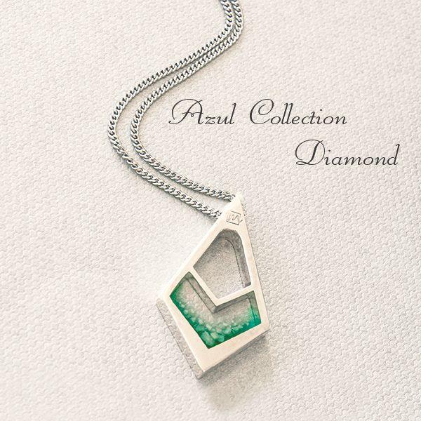 遺骨ペンダント セミオーダー商品 アズール ダイヤ 手元供養の未来創想 ペンダント 遺骨 シルバー925