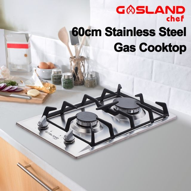 Gasland Chef Gas Cooktop 2 Burner Gas Hob Stainless Steel Cook Top