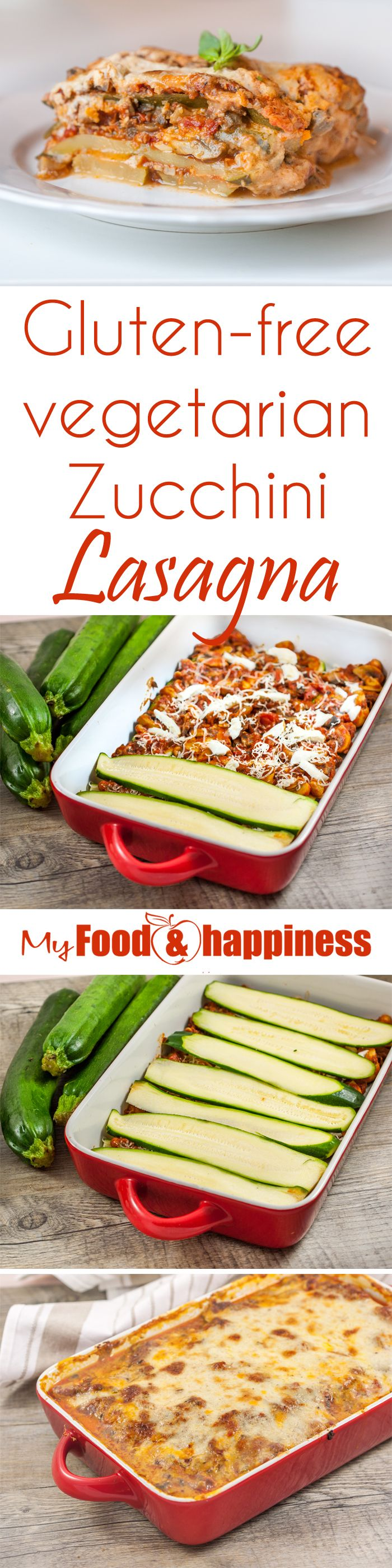 Healthy gluten & wheat-free zucchini lasagna made with zucchini slices instead of lasagna sheets. I am also using a super delicious vegetarian tomato pasta sauce with olives and mushrooms, An amazing lighter alternative if you are trying to eat less wheat products or you just want to include more veggies in your diet. Just like the classic lasagna recipe, this zucchini lasagna is topped with Béchamel sauce instead of just cheese to make it more creamy and flavourful.