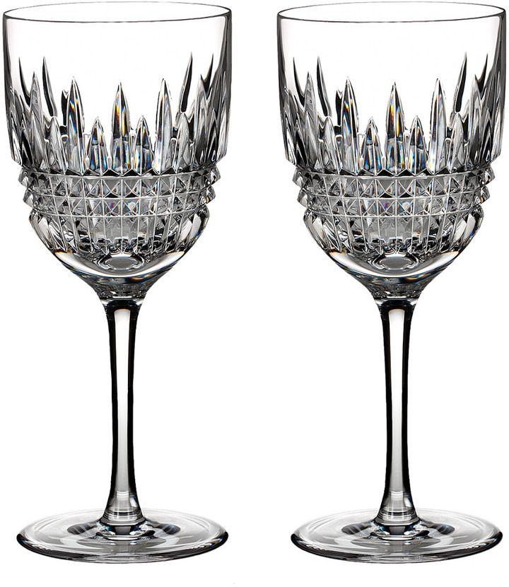 Waterford Lismore Set Of 2 Diamond Goblet