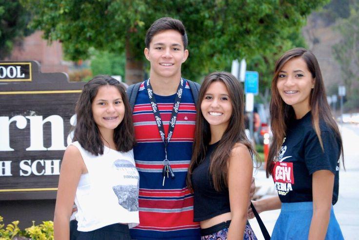 Cousins all going to La Serna High School.