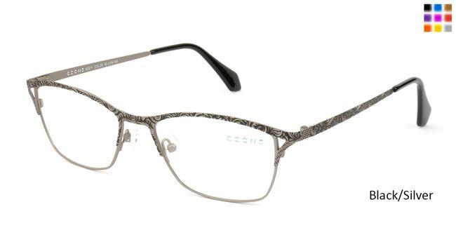 5dd35c82a6a Black Silver C-Zone A3211 Eyeglasses.