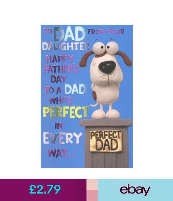 Cards & Stationery To Dad From Daughter Happy Father's Day Card Crackers Greetin...