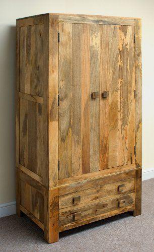 Mantis 2 Drawer 2 Door Wardrobe in Mango Wood
