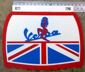 VESPA 125cc DOUGLAS mud flap 1950-1959 UNITED KINGDOM GB UK FARO BASSO VIGANO