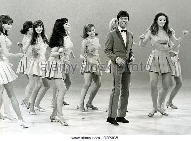 CLIFF RICHARD in the ITV series 'Showtime' with the Lionel Blair Dancers in 1968 - Stock Image