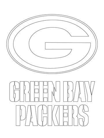 Green Bay Packers Logo  Coloring page: