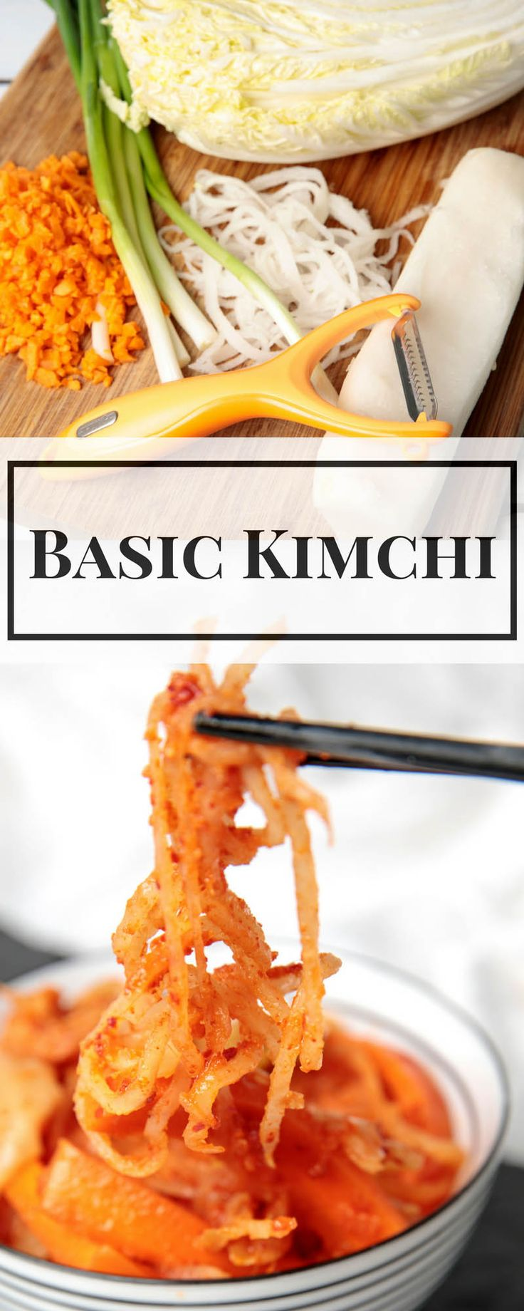 Easy Homemade Kimchi My basic Kimchi recipe makes producing your own fermented foods simple. Kimchi is ideal for maintaining good gut bacteria diversity. Thermomix or knife method included. DELICIOUS