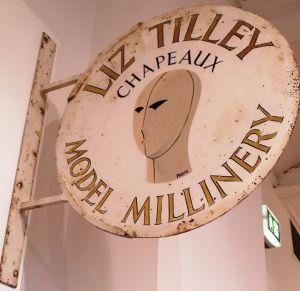 Original Shop sign for Liz Tilley Hats
