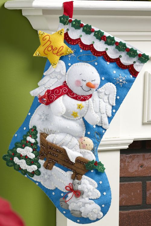 May 2015 Bucilla Stocking Kit - on sale at MerryStockings soon. Kit is entitled Snow Angel.