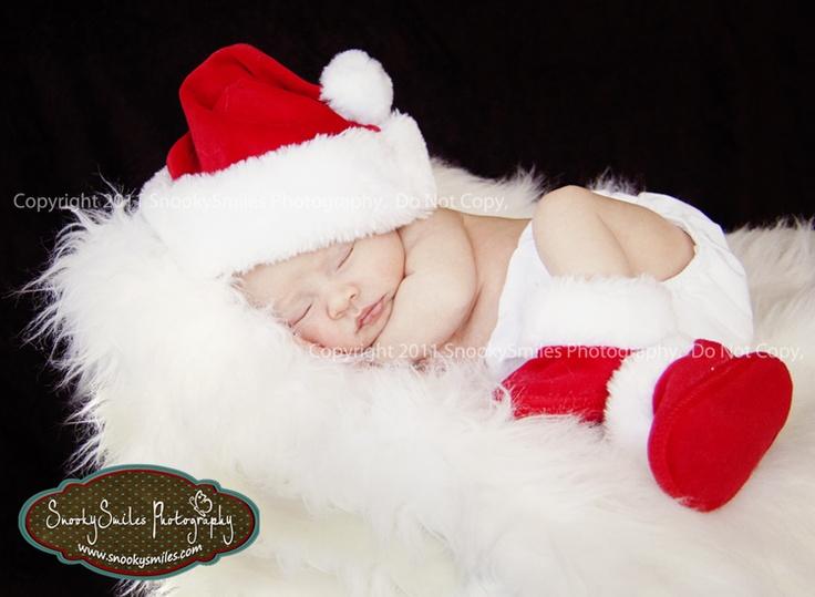Santa Baby! Cute infant photo!
