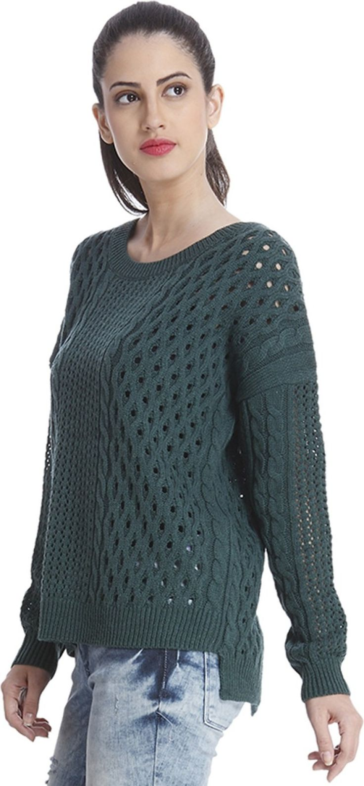 Only Round Neck Solid Women's Pullover - Buy June Bug Only Round Neck Solid Women's Pullover Online at Best Prices in India | Flipkart.com