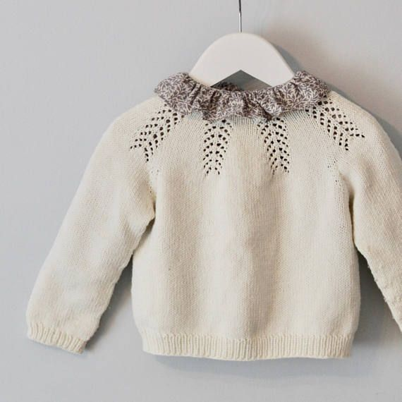 69cc17a7 Forest Fern Sweater (English and Norwegian pattern) | Products | Sweaters,  Crochet girls, Baby knitting