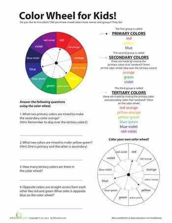 color wheel for kids - Color Worksheet