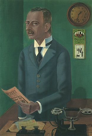 Otto Dix, 1922, The Businessman Max Roesberg, Dresden, Metropolitan Museum of Art.