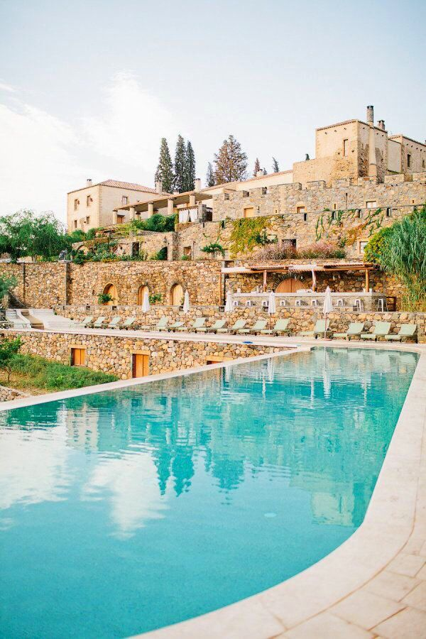 Kinsterna Hotel & Spa near Monemvasia, Greece: a romantic 13th-century manor house hotel.