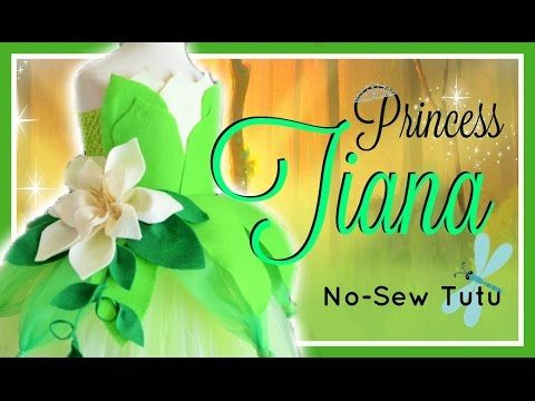 Princess Tiana Inspired Costume Tutu Dress - DIY - YouTube