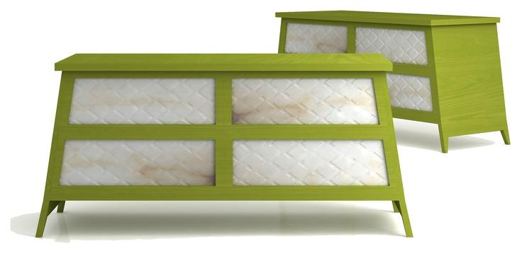 -Cassettone verde-