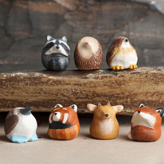 Le Animale's adorable little Fat-Fat Totem animal collection. So cute!