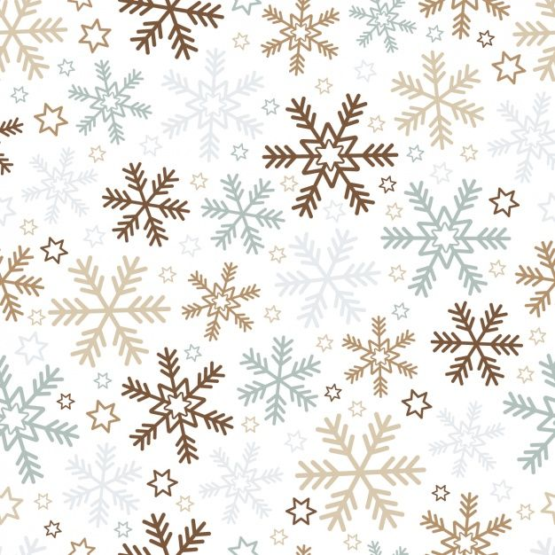 雪と星とのクリスマスの背景 無料ベクター