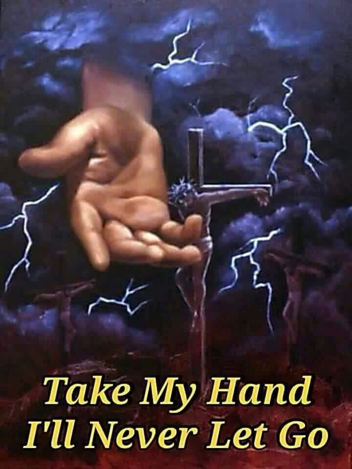 Jesus NEVER lets go of us once we accept His offer of salvation..through faith ... By Grace!!! It is He that saves us and it is He that keeps us!!! We are Sealed by The Holy Spirit!!!
