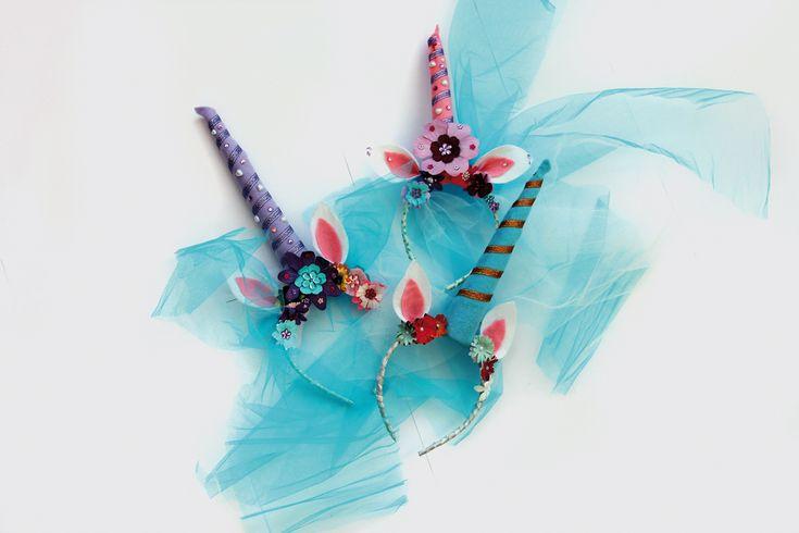 Bezaubender Einhorn-Haarreifen frü die Karnevalsparty oder den Kindergeburtstag!
