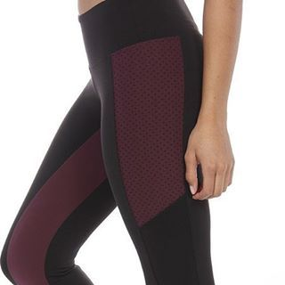 Eggplant Color + Dots + Sheer.  #therightrecipe ❤ By #strutthis and Sold on simplyworkout.com ----------- #simplyworkout #barre #tiuteam #bbggirls #barreleggings