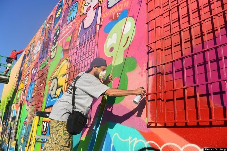 73 Graffiti Artists Tagged A Drab School To Show That Low-Income Kids Deserve Art Too