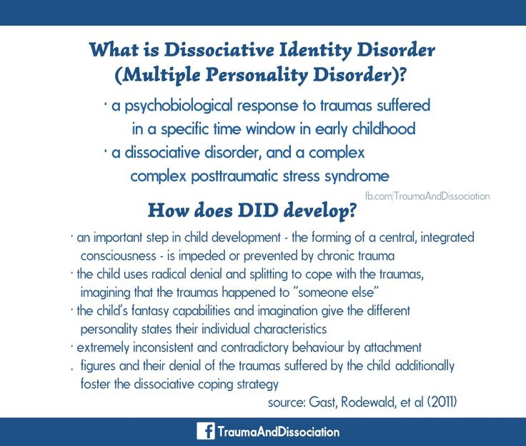 essays dissociative identity disorder Dissociative identity disorder dissociative identity disorder dissociative identity disorder (did), which is formerly known as multiple personality disorder, is a severe form of dissociation, which is a mental process, producing a lack of connection in an individual's thoughts, memories, feelings, actions, or sense of identity the disease is.