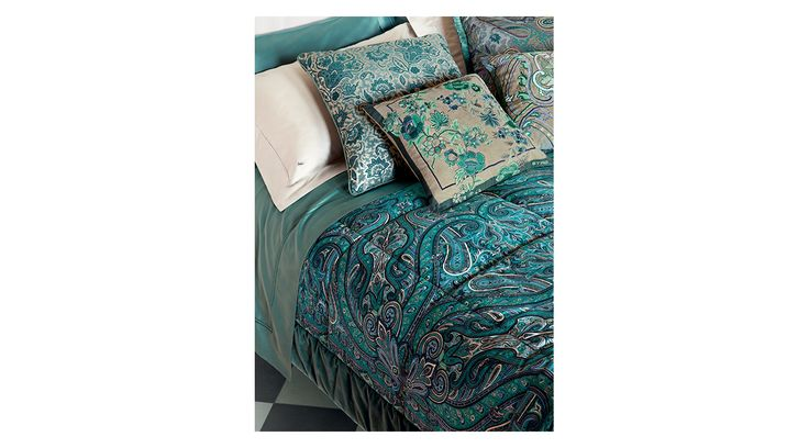 Etro Home Autumn/Winter 15/16 Collection. Available at Showroom MOOD. #mood #etrohome #etro #couder #pillows #turquoise