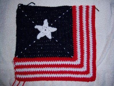Patiotic granny square crochet pattern. Free patterns.