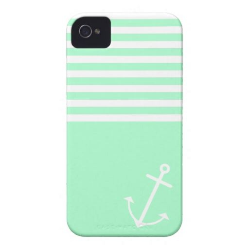 Mint Nautical Iphone 4 Cases by OrganicSaturation.. WANT THIS!!!