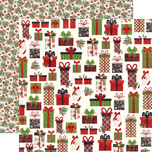 Echo Park A Perfect Christmas 12x12 Paper: Jolly Presents