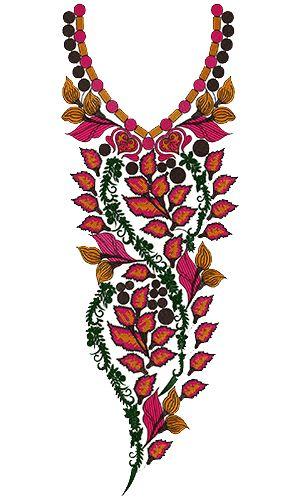 9286 Neck Embroidery Design