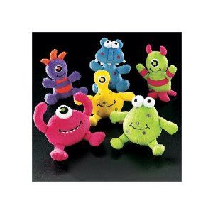 You can order a dozen plush monsters for an Adopt-A-Monster party favor idea. Currently $14.00 on Amazon.com.