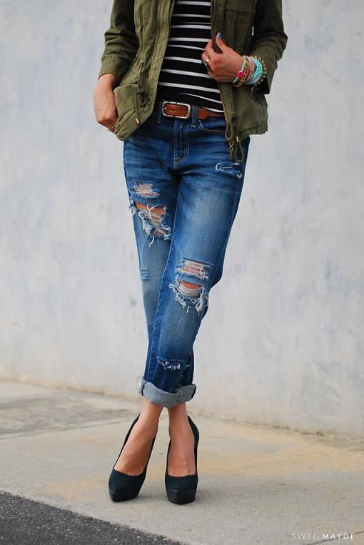 ¡Descubre paso a paso cómo hacer pantalones rotos con este tutorial! Los pantalones vaqueros rasgados y con rotos están muy de moda, y son fáciles de hacer.