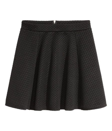 Check this out! Short, circular skirt in jersey. Unlined. - Visit hm.com to see more.