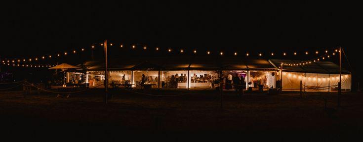 Festoon and marquee heaven. Photo by Benjamin Stuart Photography #weddingphotography #weddingreception #festoon #marqueewedding #eveningwedding #countrywedding