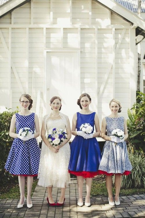 29 Chic Vintage Bridesmaids' Dresses   Weddingomania