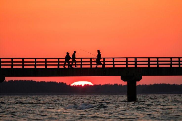 Sonnenuntergang in Prerow