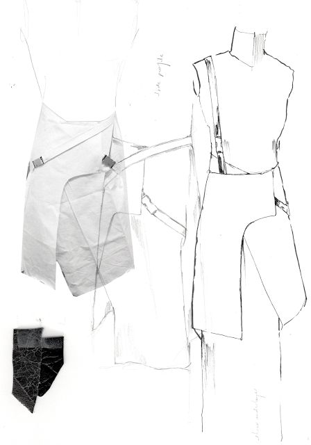 Fashion Sketchbook - fashion design development with fashion sketches & prototyping; fashion portfolio // Alexandra Baldwin