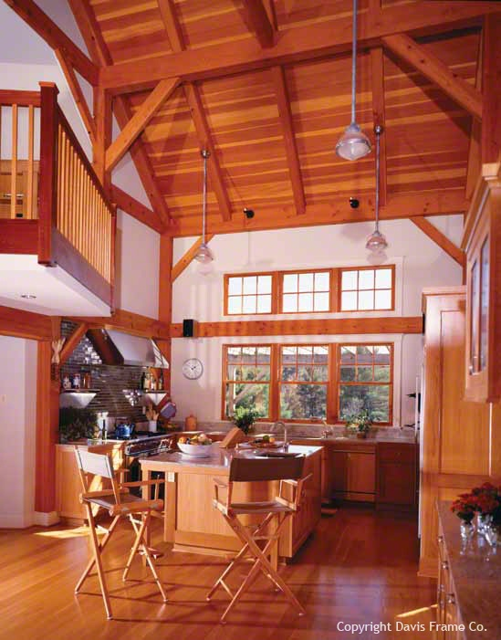17 best images about timber frame home interiors on for Cathedral ceiling beams