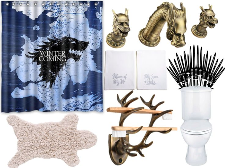 Rule the porcelain throne with a Game of Thrones themed bathroom. 8 best Game of thrones room images on Pinterest